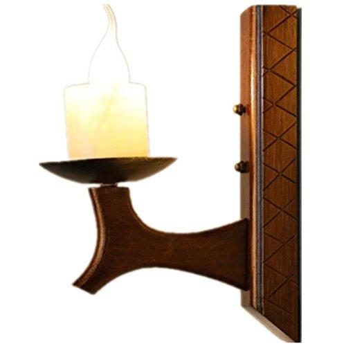 DGS Lmitation Marble Pull Petal Lamp Country Candle Wall Lamp Solid Wood Creative Wood Restaurant Lamp Retro Lighting 30 28Cm (Tuscany Pulls Drop Rust)