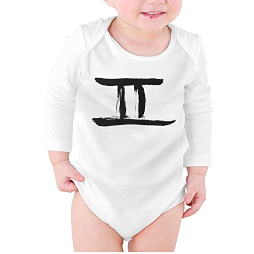 (M2VIK9 Baby Romper Long Sleeve Clothes Jumpsuit Gemini Symbol in Link The Twins Logo Bodysuit Playsuit Outfits )