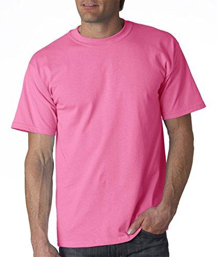 Gildan para hombre Ultra algodón camiseta de algodón 100% Safety Pink (50/50)