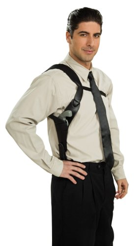 Rubie's Costume Shoulder Holster Costume, Black, One Size (Shoulder Strap Gun Holster Costume)