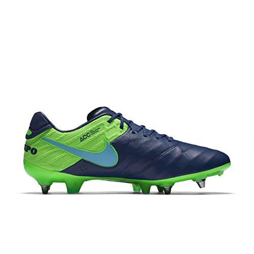Nike 819680-443, Botas de Fútbol para Hombre Azul (Coastal Blue / Polarized Blue-Rage Green)