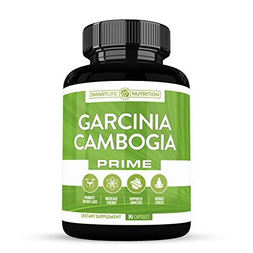 Garcinia Cambogia Weight Loss Pills - 100% Natural 60% HCA Pure Extract Appetite Suppressant, Metabolism Booster, Non-Stimulant Diet Supplements for Men and Women - Vegan Non-GMO Gluten Free - 90 Cap ()