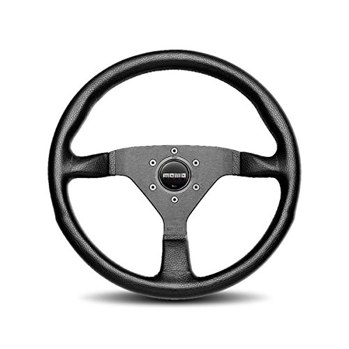 Momo Black Leather - MOMO MCL32BK1B Montecarlo 320 mm Leather Steering Wheel