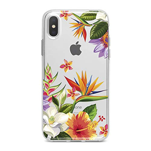 Lex Altern TPU Case for iPhone Apple Xs Max Xr 10 X 8+ 7 6s 6 SE 5s 5 Cover Slim fit Bouquet Leaves Flower Girls Flexible Print Lightweight Women Pastel Design Blossom Gift Smooth Soft Clear Floral