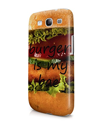 Hamburger Is My Bae Plastic Snap-On Case Cover Shell For Samsung Galaxy S3