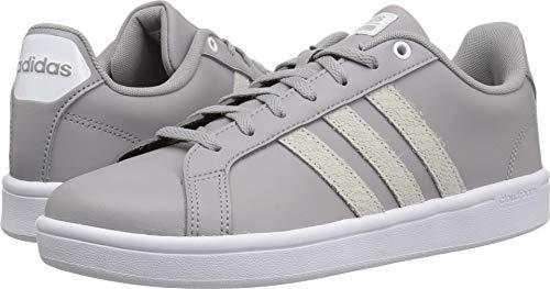 Leather Shoe Skateboard (adidas Women's Cf Advantage Sneaker White/Light Granite, 11 M US)