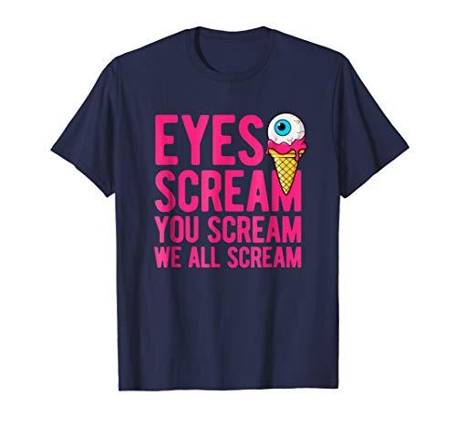 Halloween costume eyes scream ice cream cone t-shirt ()
