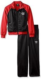 UMBRO Big Boys\' Warmup Suit, Black, Large