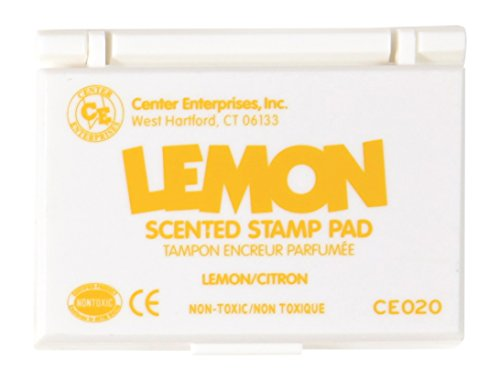Center Enterprise CE020 Lemon Scented Stamp Pads, Yellow