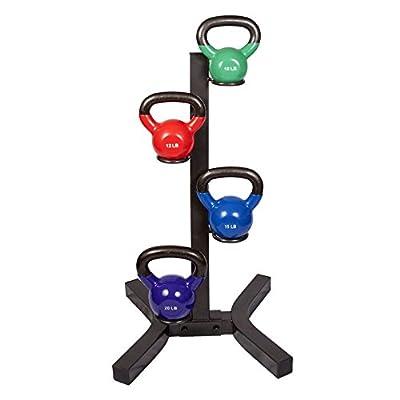 j/fit Kettlebell Rack with Set of 4 Kettlebells