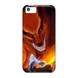 Durable Cell-phone Hard Cover For Apple Iphone 5c (YNp9658FtIh) Unique Design Realistic Naruto Shippuden Kyuubi Yondaime Minato Namikaze Pictures