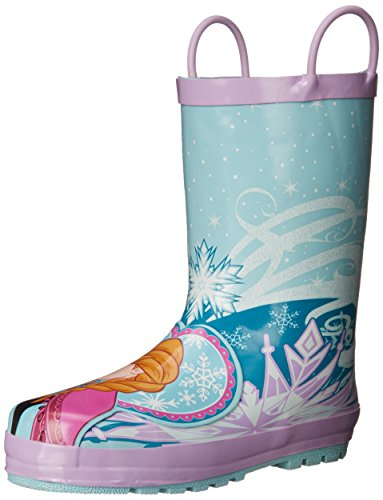Western Chief Kids Waterproof Disney Character Rain Boots with Easy on Handles, Frozen Anna and Elsa, 2 M US Little Kid