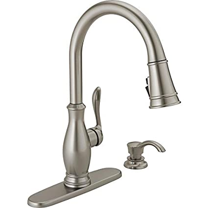 Delta Zalia Spotshield Stainless 1 Handle Pull Down Kitchen Faucet