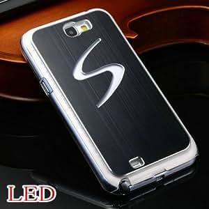 ModernGut LED Calling Sense Flash Light Aluminum Hard Case For Samsung Galaxy Note 2 N70 Luxury Stylish back cover 9 Colors