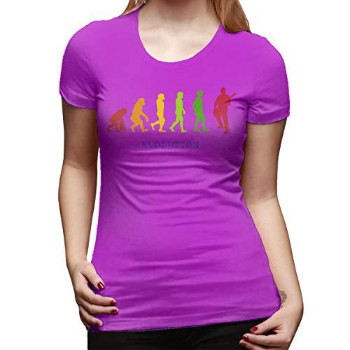 Burton Edith Guitar Player Evolution Guitarist Musician Women's Short Sleeve T Shirt Color Fuchusia Size 29