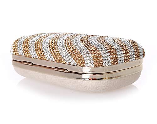 Mini Sac fériés Bal Main à Et soirée de B d'autres soirée Pochette Diamants Sacs 6x5inch de E Bridal Jours de Incrusté 16x13cm Exquis Femme Soirée wrfUAw