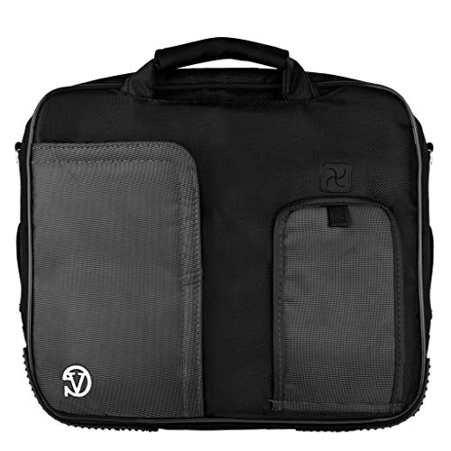 10.1 Inch 12.3 Inch Laptop Shoulder Messenger Bag Tablet Sleeve Briefcase Fit HP, Lenovo, Apple, Dell, Google, Black