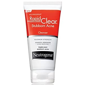 Neutrogena Rapid Clear Stubborn Acne Cleanser, 5 Fluid Ounce -- 12 per case.