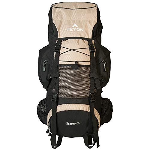 Teton Sports Scout 3400 Internal Frame Backpack; High-Performance Backpack for Backpacking, Hiking, Camping; Hunter Green