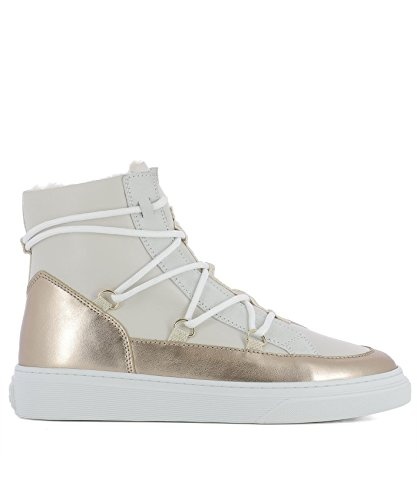 Hogan Pelle Sneakers Hi Top Hxw3420z960hq80l8v Donna Beige r6qr7C