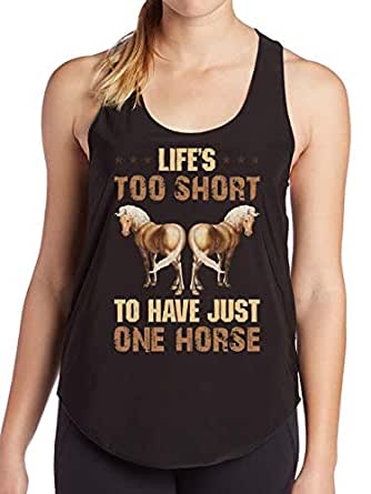Amazon.com: Life's Too Short to Have just one Horse Women