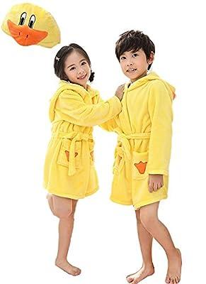 Toddler Bath Robe Girls Boys Fleece Hooded Bathrobe Kids Animal Pajamas Children's Sleepwear Toddler Plush Kimono