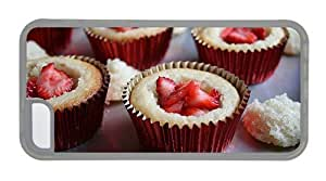 Hipster DIY iPhone 5C covers Strawberry Muffins TPU Transparent for Apple iPhone 5C