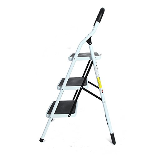 Portable Family-use Ladder 3 Steps Folding Stool Ladders Stair Platform Homestyle by Ologymart