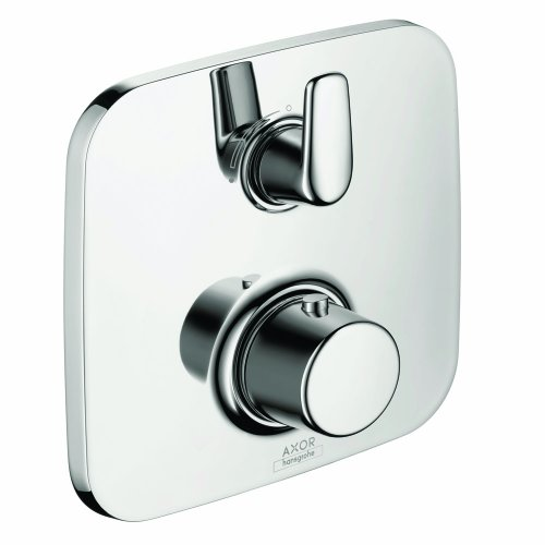 Axor 19706001 Bouroullec Thermostatic Trim with Volume Control  and  Diverter, Chrome