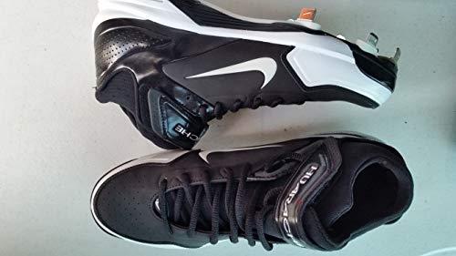 (Nike New Air Huarache 2K Fresh 467796 Mens 9.5 BB Metal Cleats Blk/Wht)