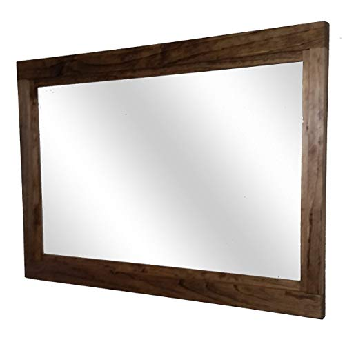 ed Mirror Available in 5 Sizes and 20 Stain Colors: Shown in Provincial- Large Wall Mirror – Rustic Decor - Bathroom Mirror ()