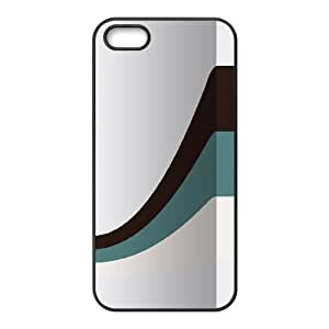 IPhone 5,5S Cases Black and Blue Stripes, Color Case for Iphone 5s - [Black] Okaycosama