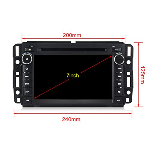 Android 8.1 Car Stereo 7 inch DVD Player for GMC Chevy Silverado 1500 2012 Quad Core Double Din in Dash Touchscreen FM/AM Radio Receiver Navigation with Rear View Camera by MekedeTech (Image #5)