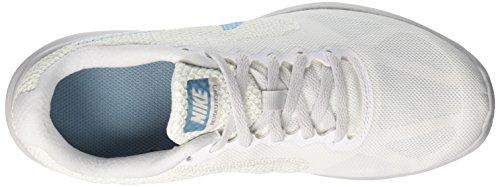 Nike Revolution 3 Scarpe Da Corsa Da Donna Bianche / Ceruleo / Platino Puro