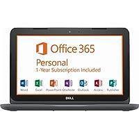 Dell 11.6 HD Laptop, AMD Dual-Core A6-9220e up to 2.4GHz, 4 GB RAM, 32 GB eMMC, HDMI, Bluetooth, Webcam, USB 3.1, MaxxAudio Pro, Windows 10, Office 365 Personal