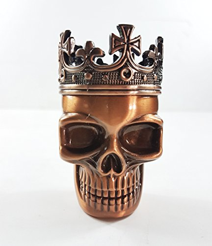 Copper King Skull Cross Crown Tobacco/Spice/Herb/Weed Grinder 3 Layers