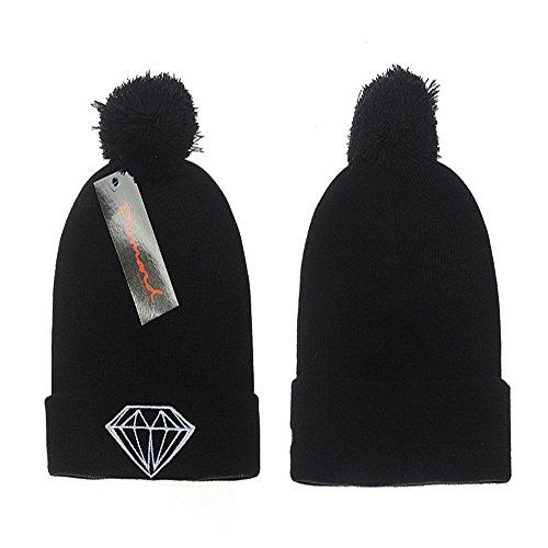 Men's Diamond supply Beanies Hip Hop womens knit cap wool Hats -Knit hat without visor Diamond Visor Beanie