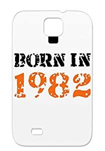 Anti-drop Bronze Birthdays Born In 1982 Holidays Occasions For Sumsang Galaxy S4 Protective Hard Case