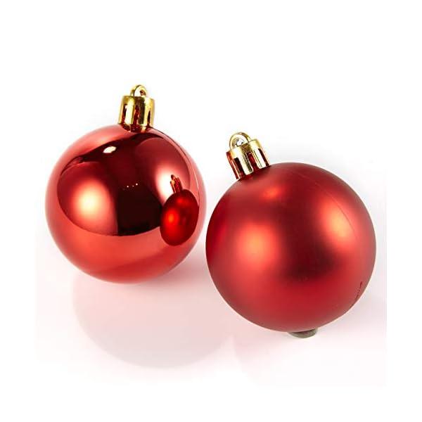 HEITMANN DECO Krebs & Sohn Set di 30 Palline di Natale in Vetro - Albero di Natale Deco Appeso - Palle di Natale - Rosso Oro 6 spesavip