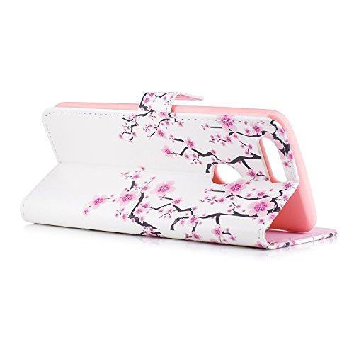 Funda con Tapa para OnePlus 5T, Vandot 3D Creativa Diseño de Flamenco Pintado Impresión Estuche Carcasa Premium PU Cuero Magnético Flip Case Cover con Función de Soporte y Ranuras para Tarjetas Caja d FDCH-2
