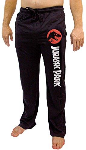 Jurassic Park T-Rex Logo Men's Adult Lounge Pants (Medium, Black)]()