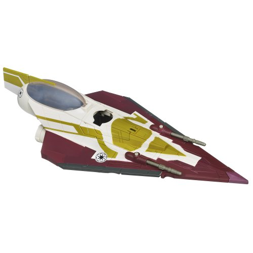 Star Wars The Clone Wars Kit Fisto's Jedi Starfighter Vehicle