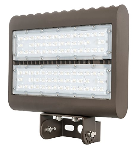 Westgate Lighting Outdoor LED Flood Light Fixture Yoke Mount - Shoebox Street Area Parking Pole Security Floodlights - 120-277V - IP65 Waterproof UL Listed DLC Approved (100 Watt, 5000K Cool White)