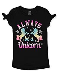 Star Ride Girls' Unicorn Cold-Shoulder Top