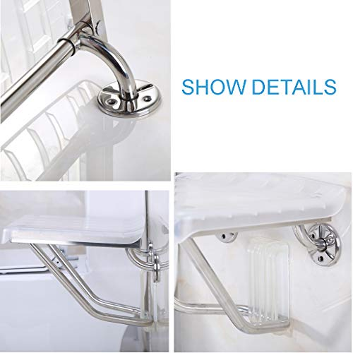 Wall Mount Shower Chairs Health Showering Stool Fold Away Bath Chair Shower Seat Bench