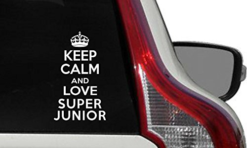 Super Junior Crown Keep Calm Car Vinyl Sticker Decal Bumper Sticker for Auto Cars Trucks Windshield Custom Walls Windows Ipad Macbook Laptop Home and More - Super Junior Icons