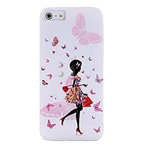 AES - Hit Color Frosted & Shimmering Powder Effect TPU Casefor iPhone 5/5S(Red)