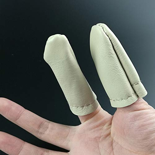 Big-Deal 5 Pairs Thumb Index Finger Protector Leather Needle Felting Thimble Guard Hand Craft Embroidery Cross Stitch Tool (Leather Guards Finger Polishing)