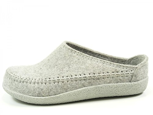 Haflinger Credo 718001 - Zapatillas de casa de fieltro unisex Grau