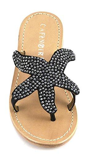 CAFèNOIR Women's Fashion Sandals nero Nero EqzP4